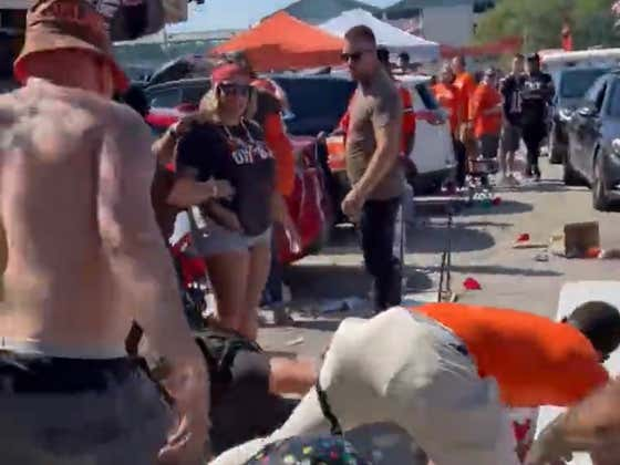 It Wouldn't Be A Browns Home Opener Without An All Out BRAWL In The Muni Lot