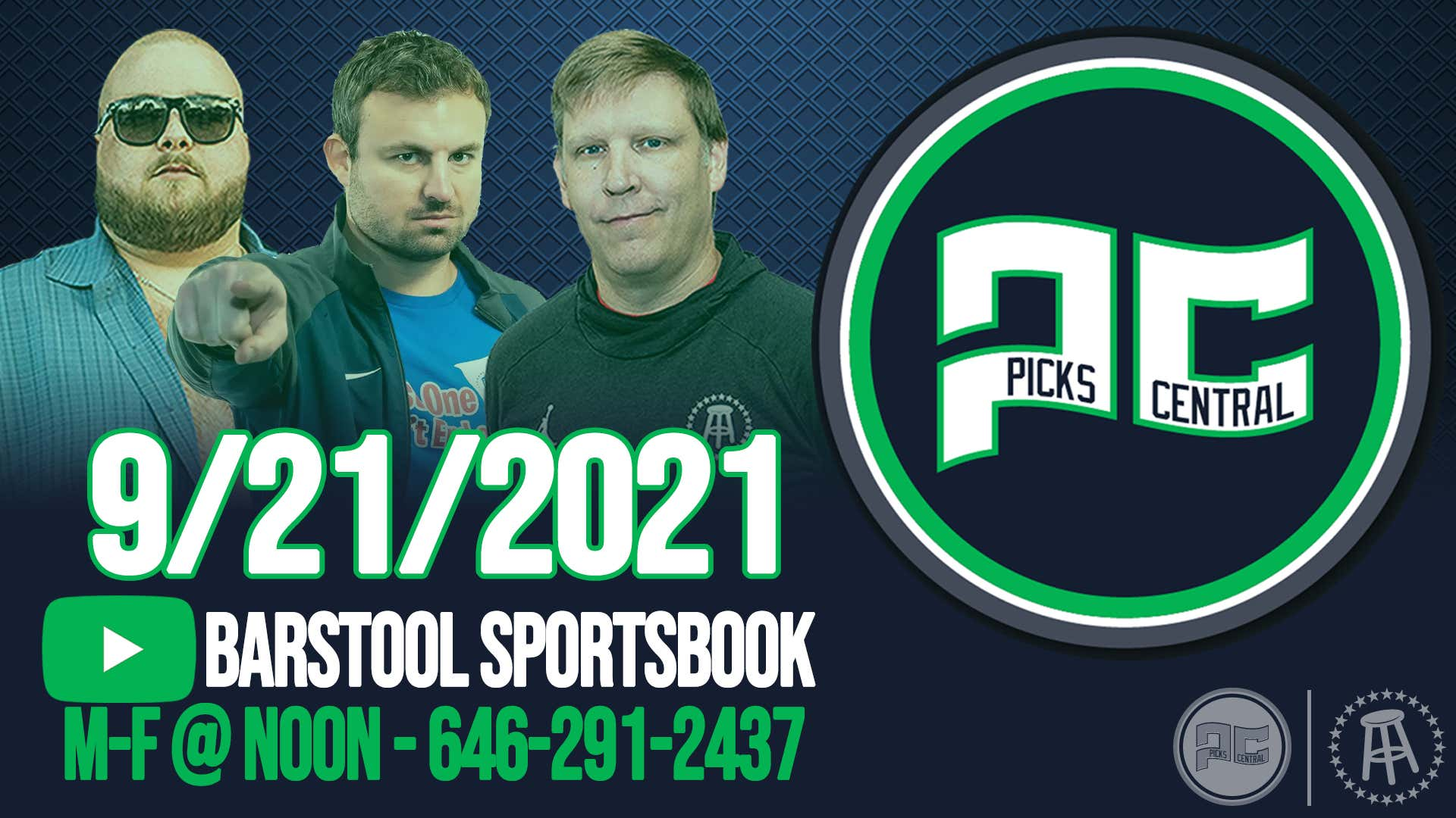 Barstool Sports Picks Central with Brandon Walker || Tuesday, September 21, 2021