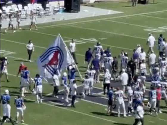 SMU Tried to Plant Its Flag at TCU With the Horned Frogs Still on the Field. It Did Not Go Well