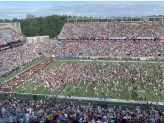 Storming the Field After Beating Unranked Missouri Is Admitting Your School Has a Poverty Football Program