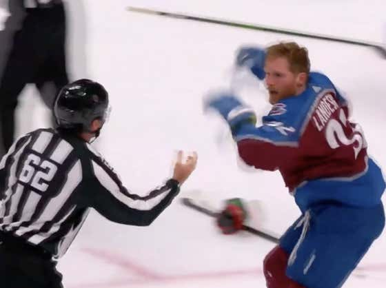 That Maniac Gabriel Landeskog Desperately Trying To Fight In A Preseason Game Is What Old Time Hockey Is All About