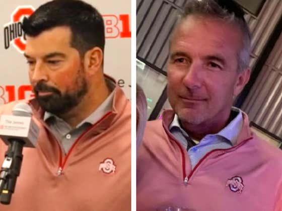 Is Ryan Day Trolling By Wearing The Exact Same Quarter-Zip As Urban Meyer?
