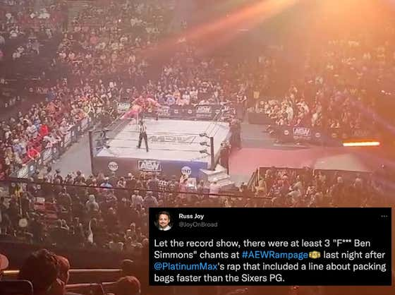 From The Sounds Of It, Wrestling Fans In Philly Don't Seem To Be Too Fond Of Ben Simmons Either