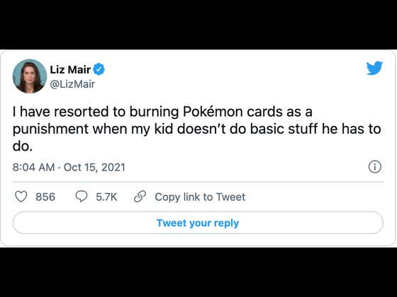 Twitter Rages At Mom Who 'Burns Her Son's Pokémon Cards As A Punishment' When He Messes Up