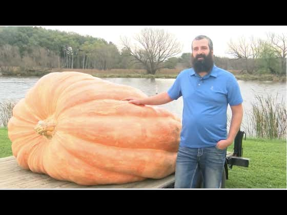 A Wisconsin Man, Who Grew The U.S.'s Largest Pumpkin At 2,520 Lbs., Has Been Disqualified From The Record Books For A Fingernail-Sized Crack
