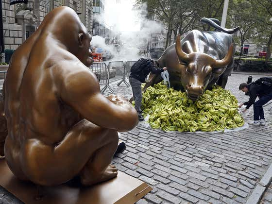A Harambe Statue Has Been Erected On Wall Street