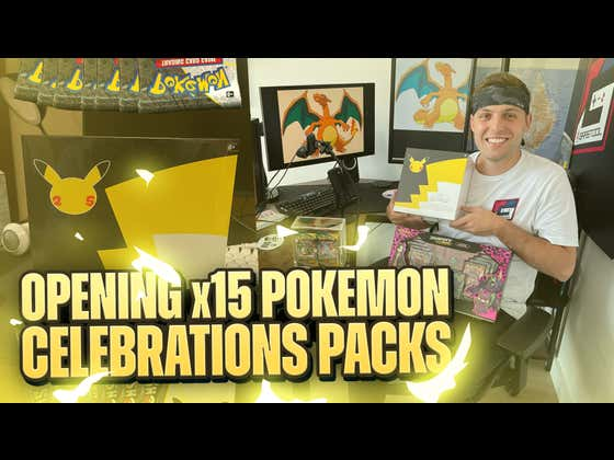 Opening Packs and Unboxing The Pokemom Celebrations Elite Trainer Box! (25th Anniversary Packs)