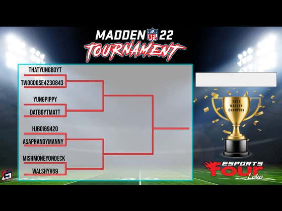 The Gametime Four Loko Madden 22 Tournament Is Underway!