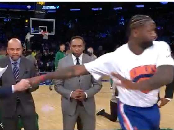 The Only Person Julius Randle Dominated More Than The Celtics Last Night Was Mike Greenberg