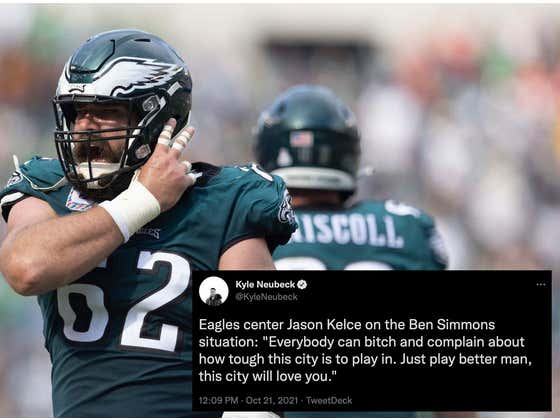 Jason Kelce Is The Ben Simmons Bully That Philly Deserves Right Now