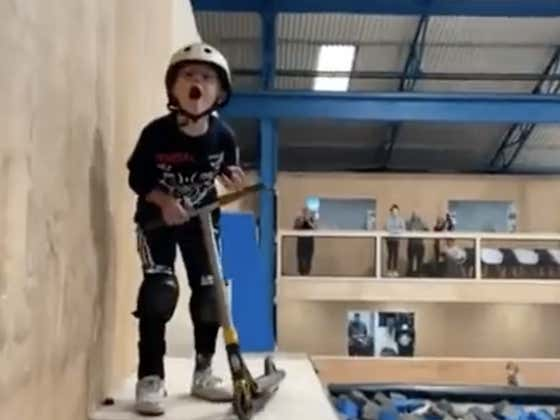 Little Man Landing A Double Backflip On A Scooter Is The Raddest Thing You'll See Today