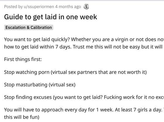 """Guy Posts A """"Guide To Get Laid"""" On Reddit And It's The Worst Thing You'll Ever Read"""