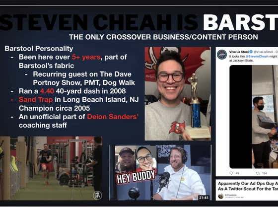 Steven Cheah Gives Me His Pitch To Be Full Time Content And It Is Very Steven Cheah