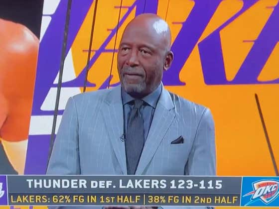 James Worthy Went On TV And Ripped The Lakers To Shreds After They Blew A 26 Point Lead Against The Thunder