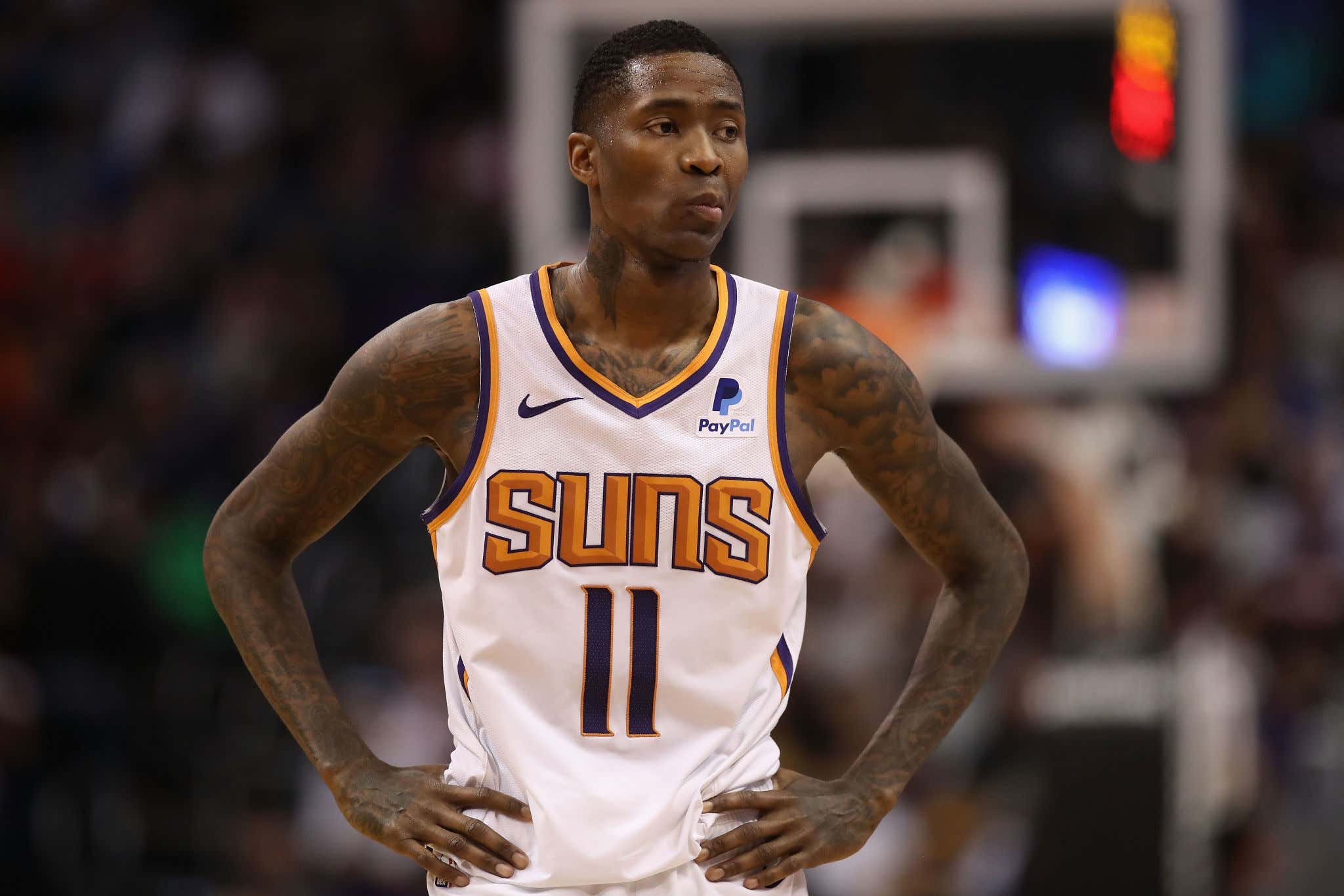PHOENIX, ARIZONA - DECEMBER 31:  Jamal Crawford #11 of the Phoenix Suns during the second half of the NBA game against the Golden State Warriors at Talking Stick Resort Arena on December 31, 2018 in Phoenix, Arizona. (Photo by Christian Petersen/Getty Images)