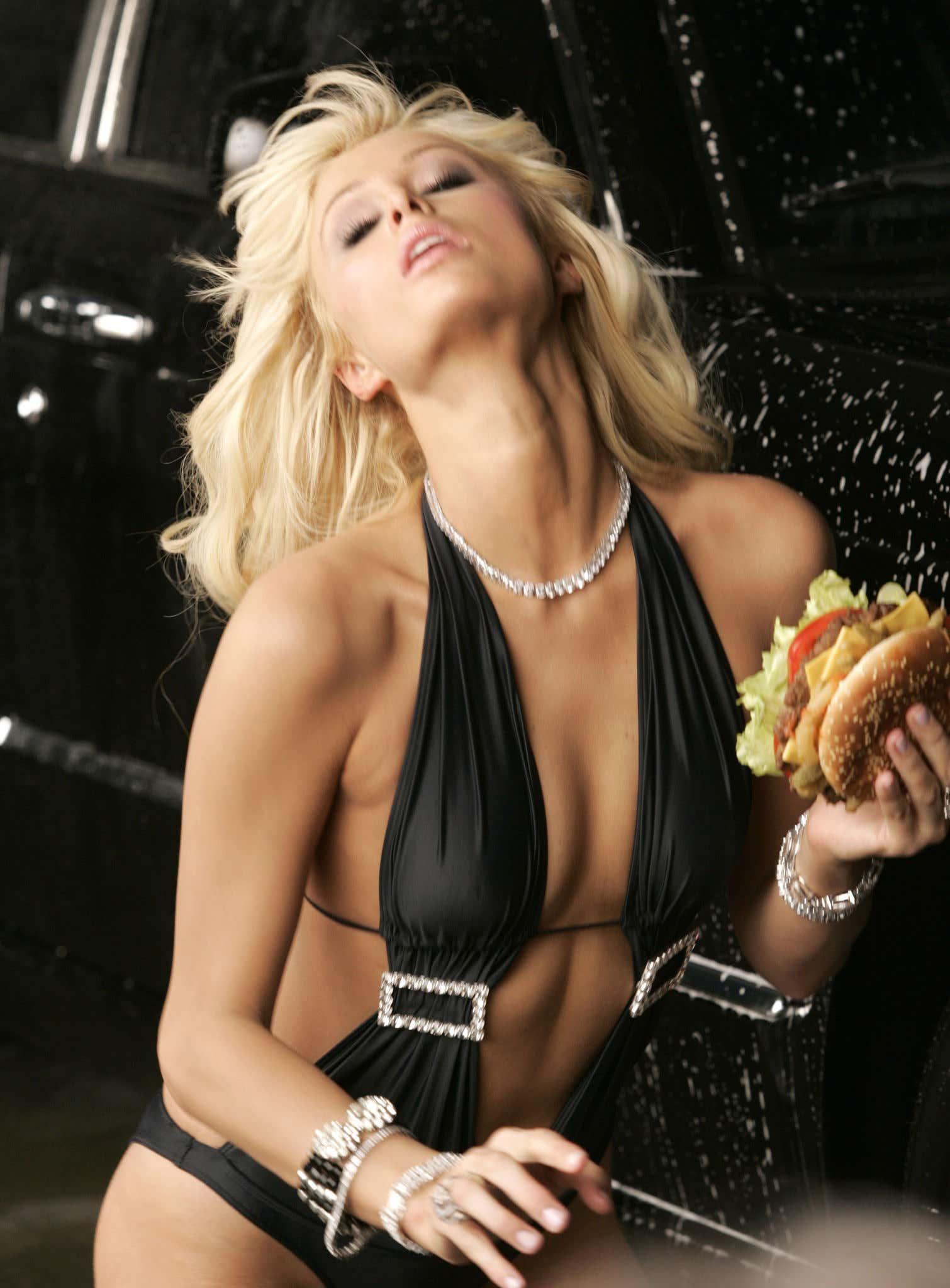 Paris Hilton Films Carl's Jr.'s New Ad for the Spicy BBQ Six Dollar Burger
