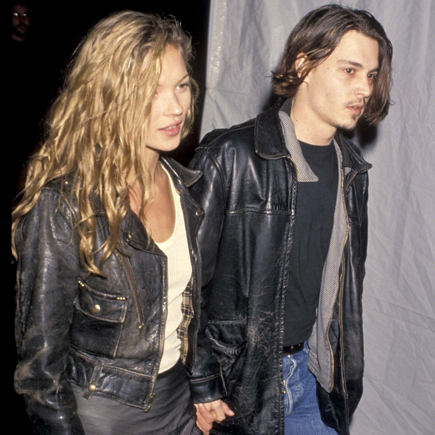 Kate Moss and Johnny Depp (Photo by Jim Smeal/Ron Galella Collection via Getty Images)