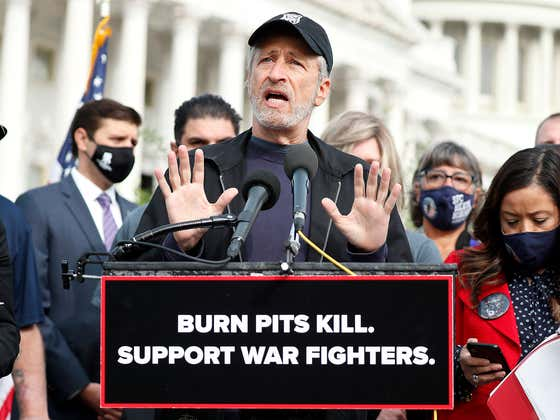 There Goes My Hero: Jon Stewart Calls Out Government For Hot Garbage
