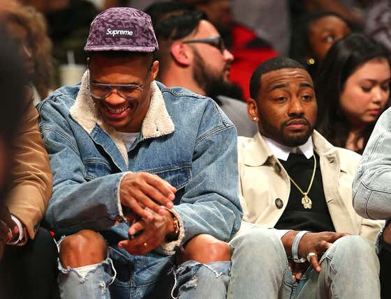 RUSSELL WESTBROOK WAS TRADED FOR JOHN WALL! IN THE REAL WORLD! THAT REALLY HAPPENED!