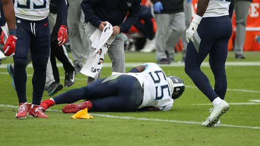 Titans Linebacker Jayon Brown 100% Thinks The Block From Ben Powers That Ended His Season Was Dirty