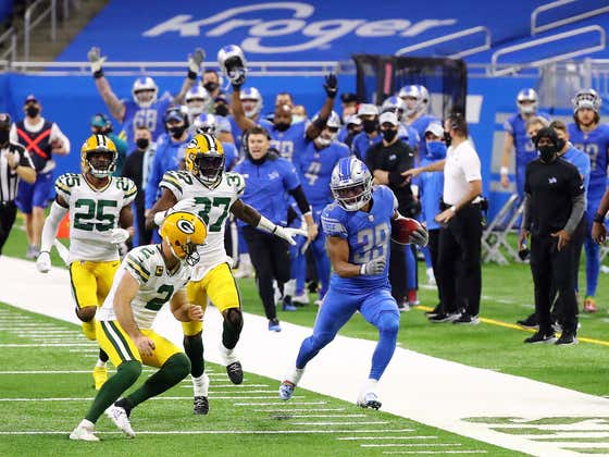The Lions Are Fining Their Kick Returner For The Unthinkable Action Of .... Getting Tackled By A Kicker This Past Week