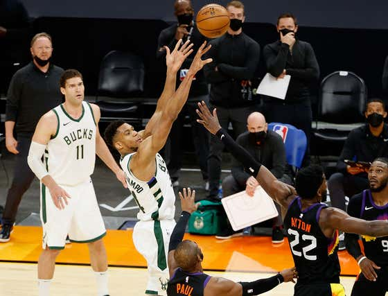 Devin Booker Knew The Suns Were Good For The Win When He Saw Giannis Attempt To Shoot A Jumper At The Buzzer