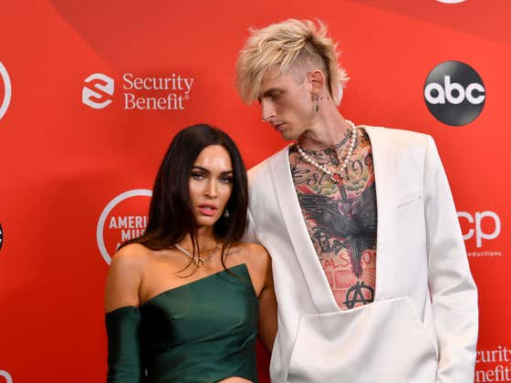 MGK Wears Megan Fox's Blood In A Necklace, Obviously