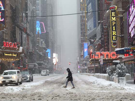Great News: NYC Is About To Get Fucked With 10 More Inches Of Snow