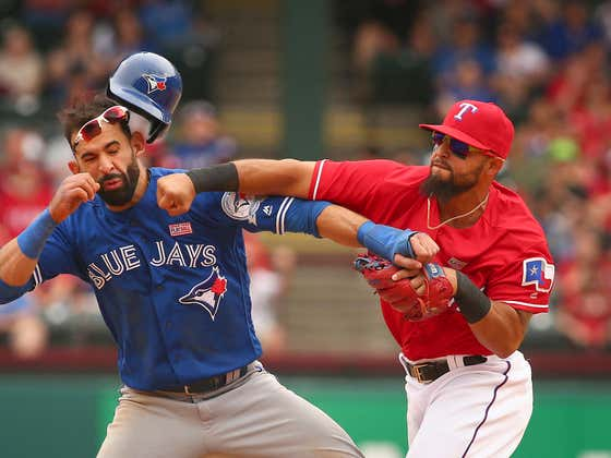 In Honor of the Yankees Trading For Rougned Odor Let's Enjoy The Time He Brought Out His Inner Tyson And Clocked Jose Bautista