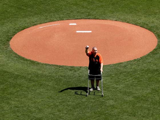 The Giants Fan Who Was Nearly Beaten To Death Ten Years Ago Threw Out The First Pitch At San Francisco's Home Opener