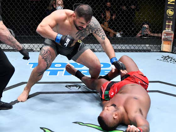 BIG TIME Heavyweight Knockout From Today's Afternoon UFC Card