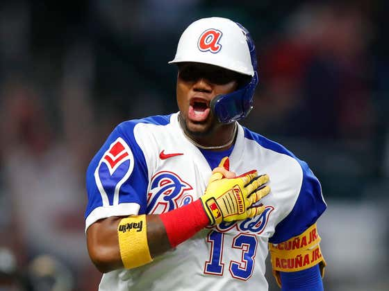 Ronald Acuña Jr. Hit A Home Run So Hard That It Physically Broke The Ball