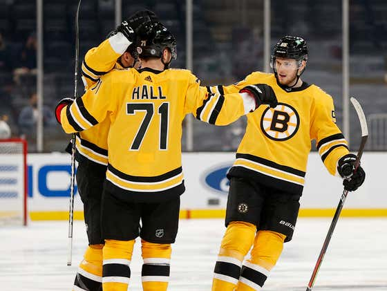 It Was A Great Night To Win A Hockey Game: Taylor Hall Scores His First As A Bruin And Tuukka Rask Earns His 300th NHL Win