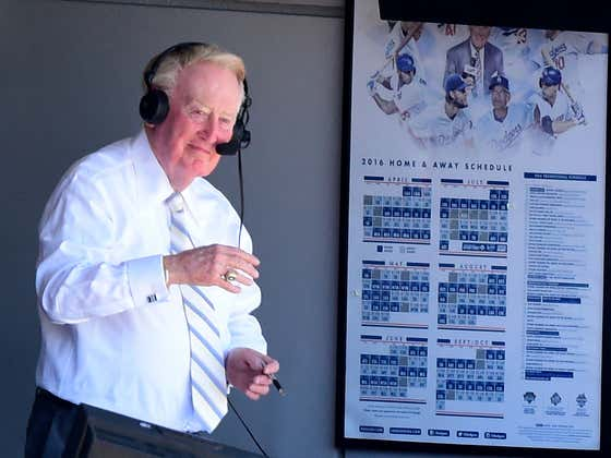 The Dodgers Giving Vin Scully His Own World Series Ring Is An A+ Move