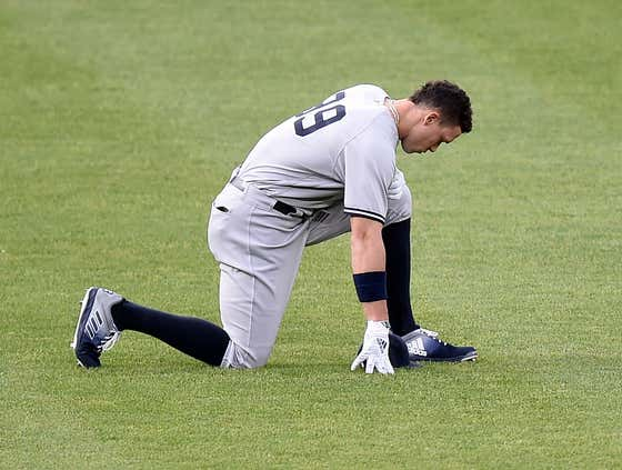 Aaron Judge Was Pulled Tuesday Night After Being Too Sore Traveling From Cleveland To Baltimore