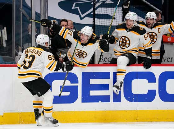 BRAD MARCHAND WINS IT IN OT IN GAME 2 AND WE'VE GOT A SERIES!!