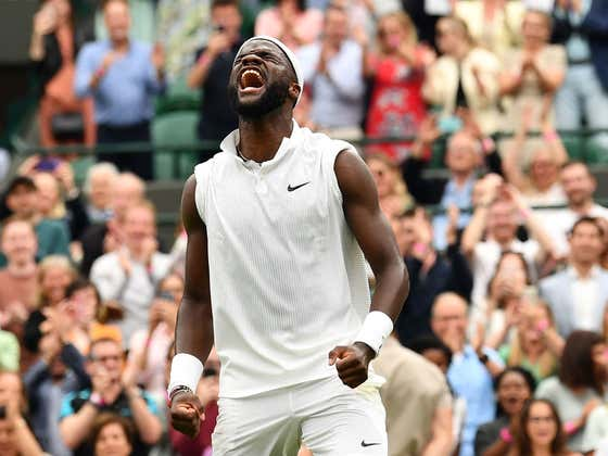 USA! USA! American Frances Tiafoe Pulls Off a Massive Upset At Wimbledon Taking Down World Number 4 Stefanos Tsitsipas In The 1st Round