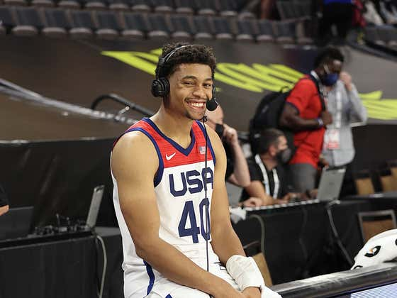 Keldon Johnson Had No Idea Gregg Popovich Was Telling Him He Was Going To Play In The Olympics Because He Doesn't Have Twitter