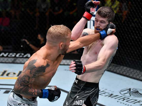 TJ Dillashaw Edges Out A Gritty W In His Return To The Octagon