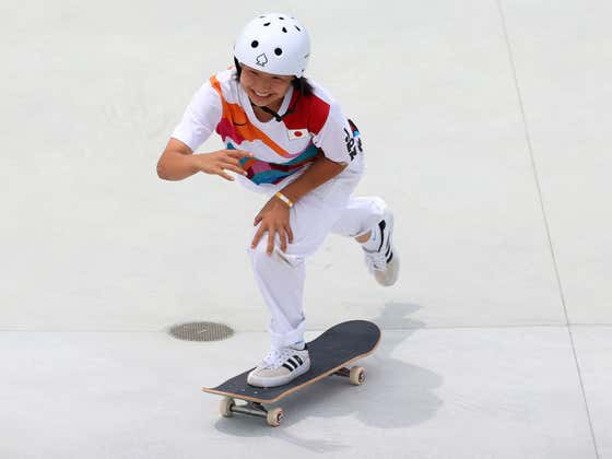 A 13-Year-Old Became An Olympic Gold Medalist In The Women's Street Skate Competition