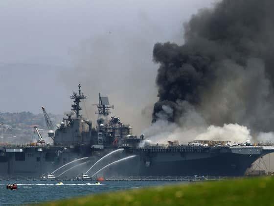 Navy Confirms Multi-BILLION Dollar Ship Fire Was Set By Sailor