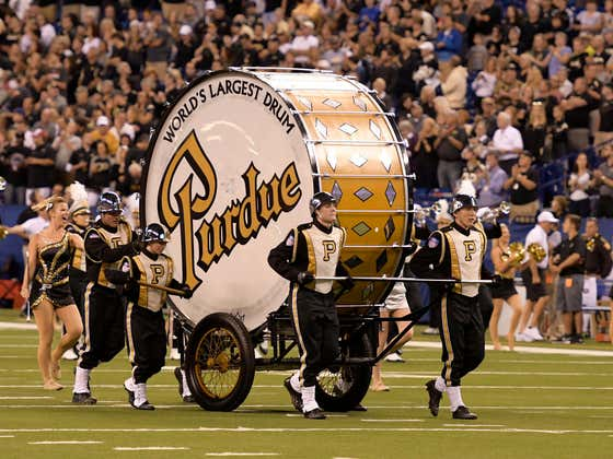 Notre Dame, Clearly Afraid of Purdue, Won't Allow World's Largest Drum On The Field
