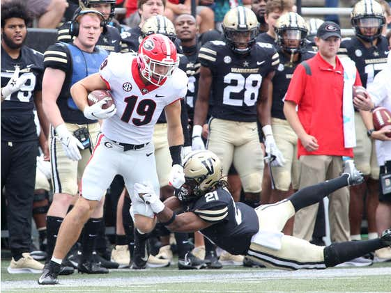 The Stats From Georgia's 62-0 Dismantling of Vanderbilt Are Truly Shocking
