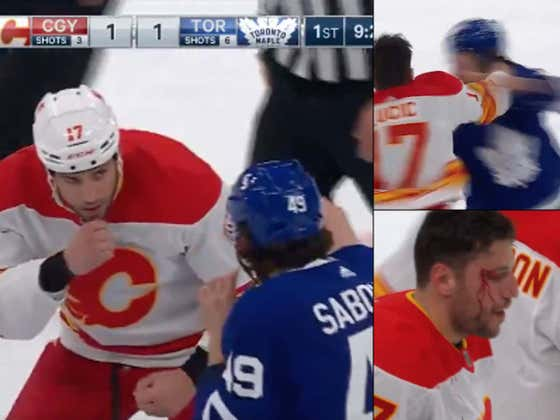 Milan Lucic Celebrated His 1,000th NHL Game By Getting Into A Bloody Fight At Center Ice