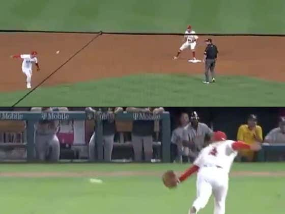 Jose Iglesias Of The Angels Just Made One Of The Coolest Plays Of The Season