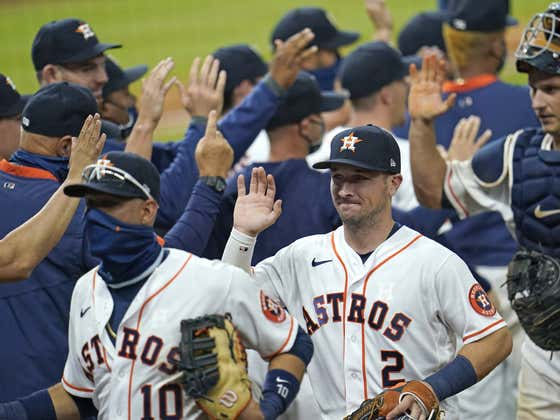 Astros have been regular season favorites in 88 consecutive games...until tonight!