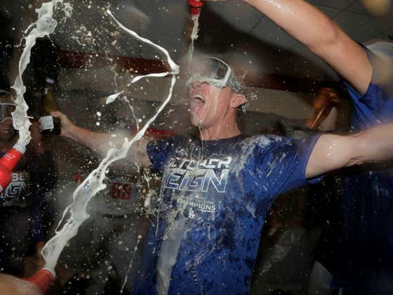 Baseball is Banning Champagne and Beer Celebrations From The Postseason This Year Because That's Apparently Too Risky For Covid While They're In a Bubble?