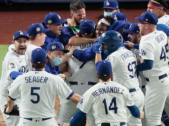 Morning Wood 10/28: The Dodgers Are Your 2020 World Series Champions, Kevin Cash Blows It for the Rays, and Justin Turner Has COVID??