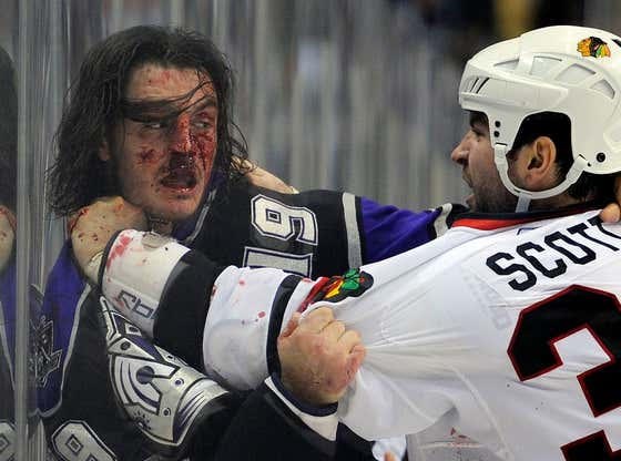 Wake Up With John Scott Breaking Kevin Westgarth's Face