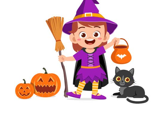 Before you dress up your little princess as a Halloween witch this afternoon...